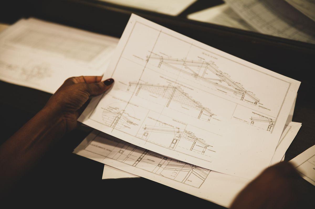 O projeto arquitetónico da escola que Gena Djaló quer construir na Guiné-Bissau.