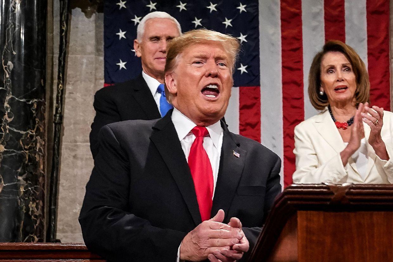 """Nicht sehr versöhnlich: Trump bezeichnete die Untersuchung der Russlandaffäre durch Sonderermittler Robert Mueller als """"lächerlich""""."""