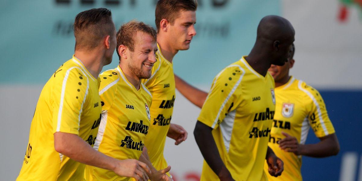 Dominik Stolz a le sourire. Deux matches et deux buts en faveur du F91.