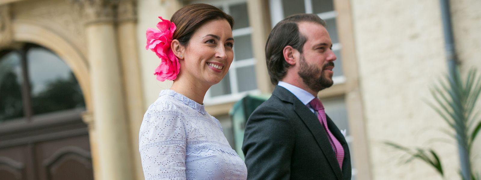 La princesse Claire et le prince Félix lors du Te Deum le jour de la Fête nationale, en juin 2018.