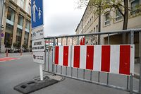 Lokales, Bauarbeiten  rue du fossé, Sperrung  Foto: Anouk Antony/Luxemburger Wort