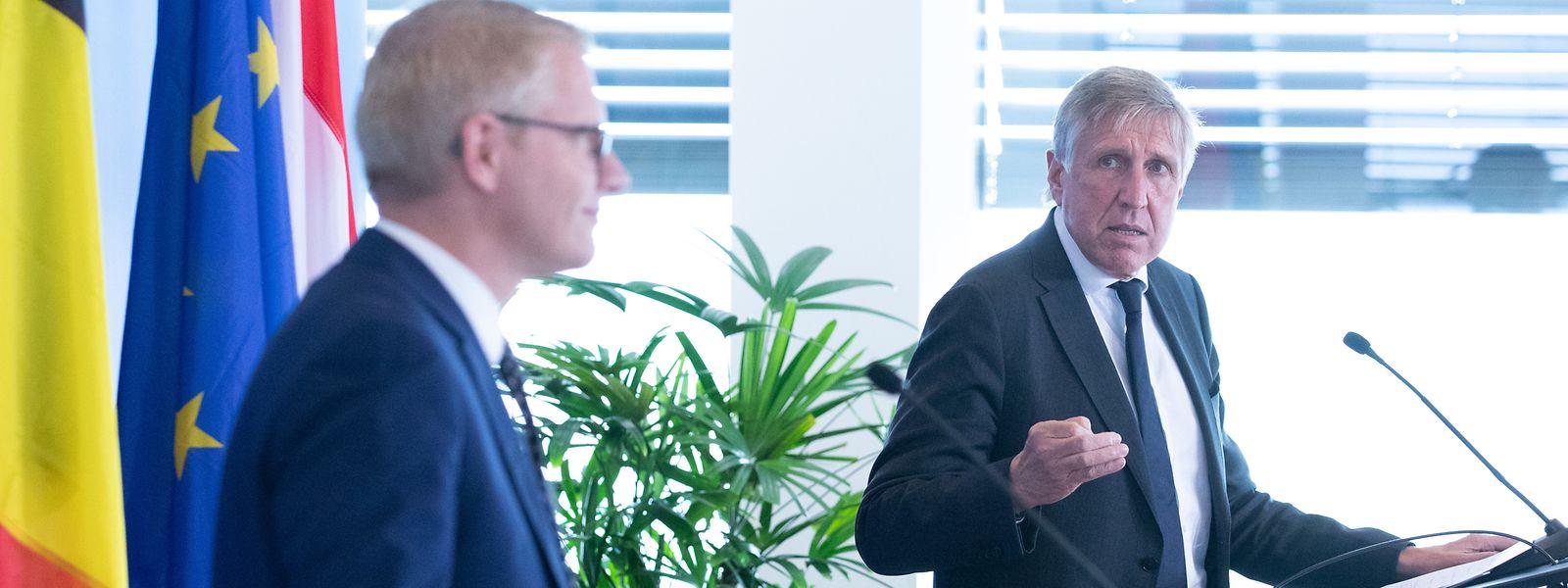 Les deux ministres des Transports écologistes, Georges Gilkinet et François Bausch, aspirent au soutien de l'Union européenne pour conforter la liaison ferrée entre les deux capitales belge et luxembourgeoise.