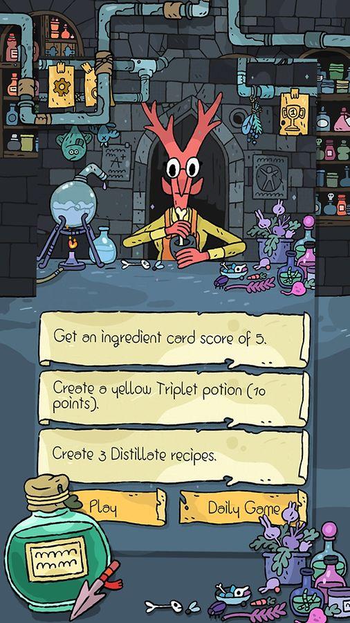 """In """"Miracle Merchant"""" muss ein Alchemie-Geselle das Brauen von magischen Tränken lernen."""
