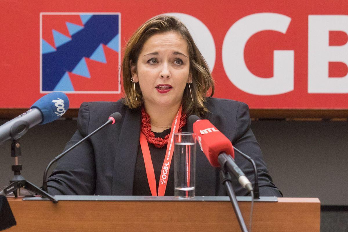 Premier discours, vendredi soir, dans son nouveau rôle de présidente de l'OGBL.
