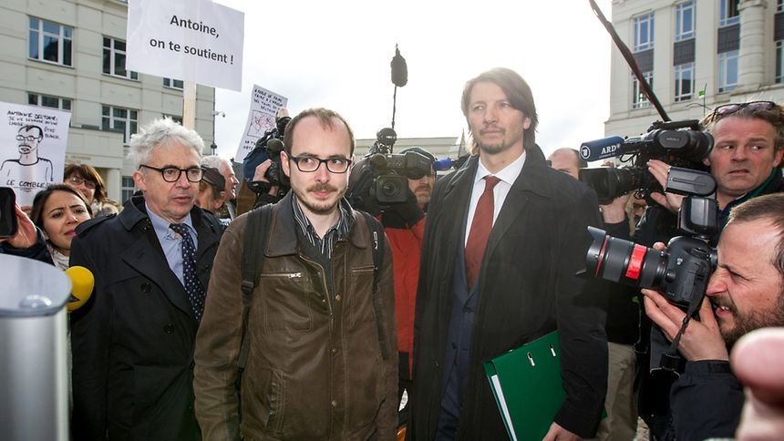 LuxLeaks whistleblower Antoine Deltour, pictured, is accused of stealing 45,000 pages of secret documents from more than 400 PwC clients.