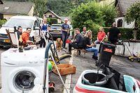 Lokales,Hocvhwasser,Überschwemmung Steinheim..Foto: Gerry Huberty/Luxemburger Wort