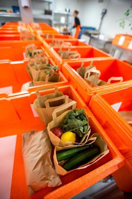 Les paniers repas d'Avocado sont préparés dans un entrepôt à Niederanven, siège de la société.