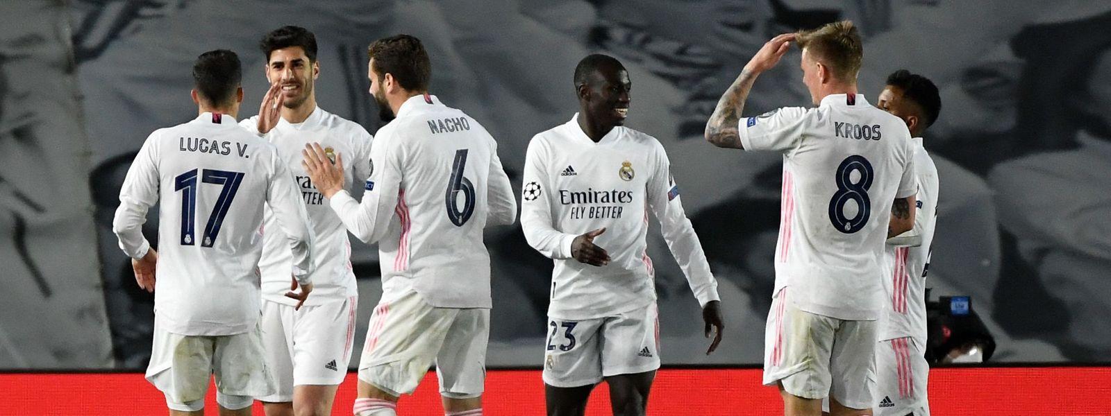 Erleichterung: Real Madrid steht als bislang einziger spanischer Club im Viertelfinale.
