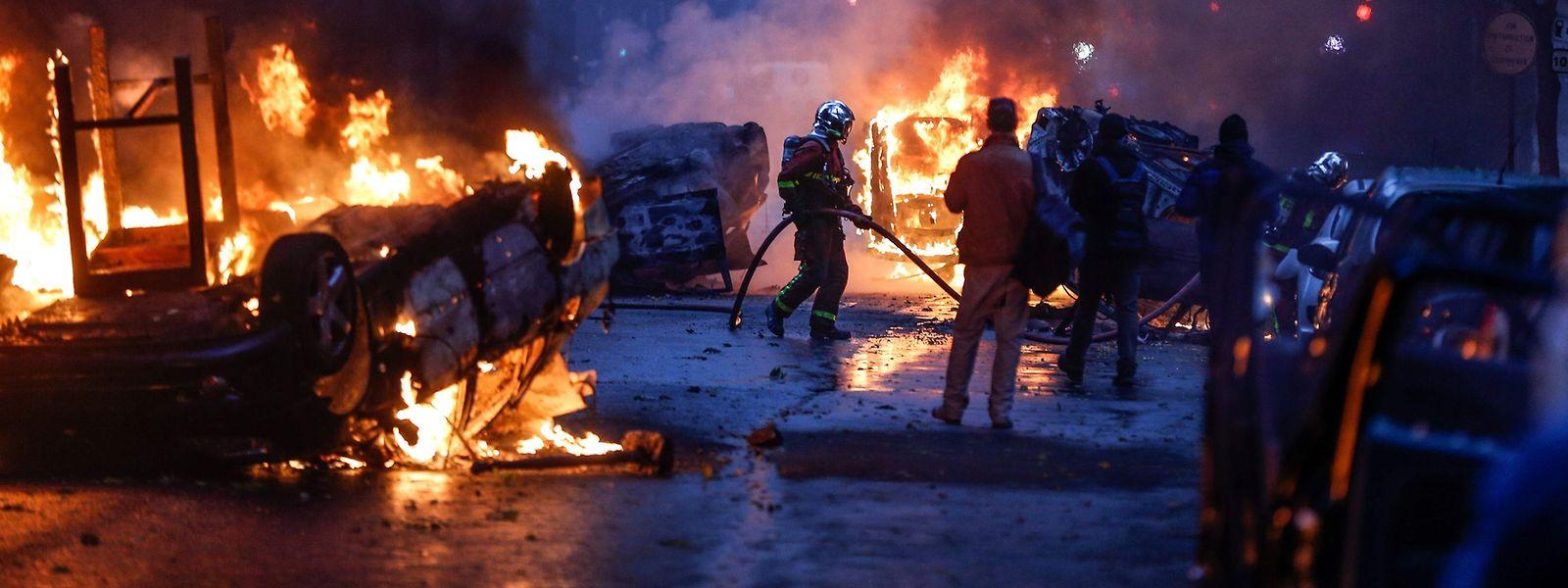 Am Wochenende tobten die Proteste in Paris.