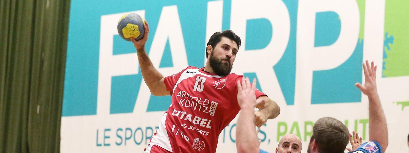 Damir Batinovic und Differdingen gewinnen gegen Käerjeng.