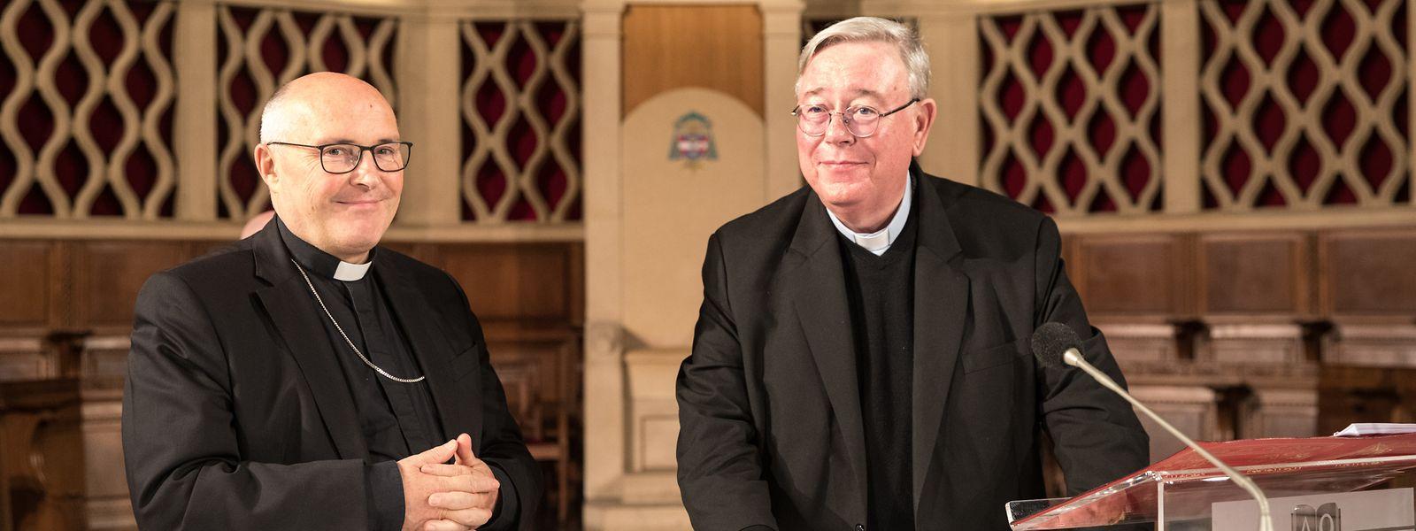 Der angehende Weihbischof Leo Wagener und Erzbischof Jean-Claude Hollerich. Foto: Gerry Huberty/Luxemburger Wort.