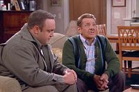 Doug Heffernan (Kevin James, li.) und Arthur (Jerry Stiller). ©2003 CBS Worldwide Inc. All Rights Reserved