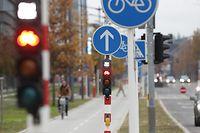 Radweg Kirchberg, Verkehr, Mobilität, Transport, fahrrad, Mobilité, piste cylable,  Foto: Chris Karaba/Luxemburger Wort