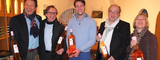 Renato Favaro, Peter Körner, SAR le prince Félix, Daniel Rameau et Linda Schaller-Gallet.