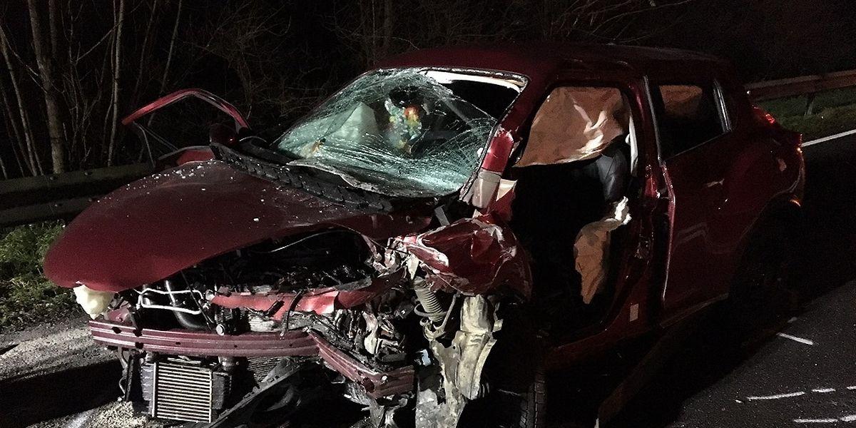Un grave accident s'est déroulé dans la nuit de samedi à dimanche sur la N11 entre Gonderange et le Waldhaff.
