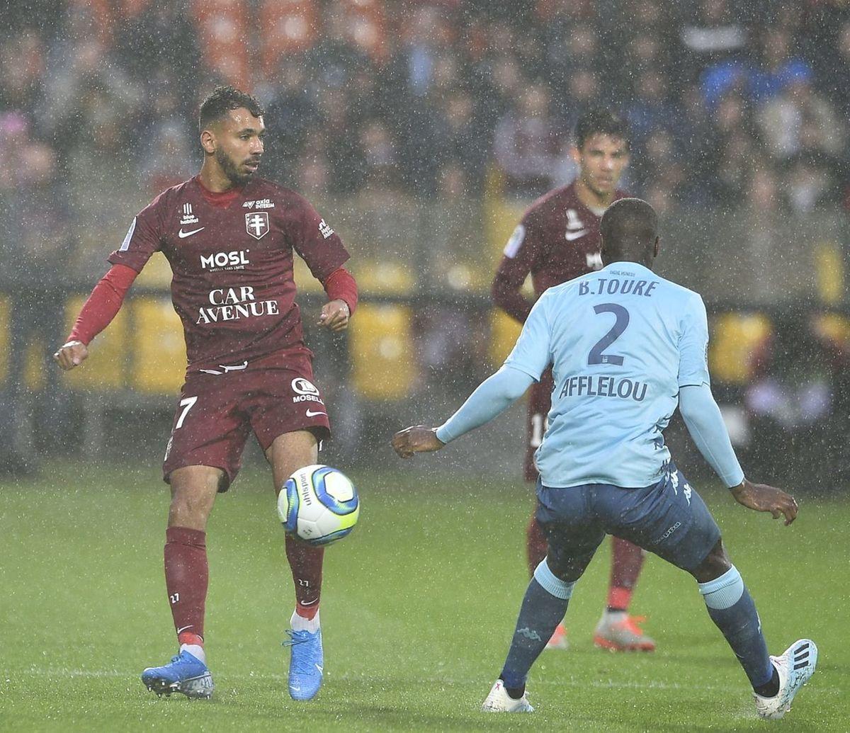 Farid Boulaya a pesé par intermittence sur la défense monégasque.