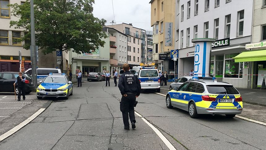 Polizeiaktion in Wuppertal-Elberfeld
