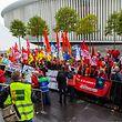 Die europäischen Transportgewerkschaften protestieren auf Kirchberg gegen das vierte Eisenbahnpaket der EU-Kommission. Mit von der Partie waren auch der Landesverband und der Syprolux.