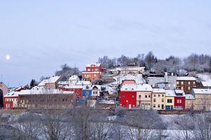 Klein-Italien im Schnee.