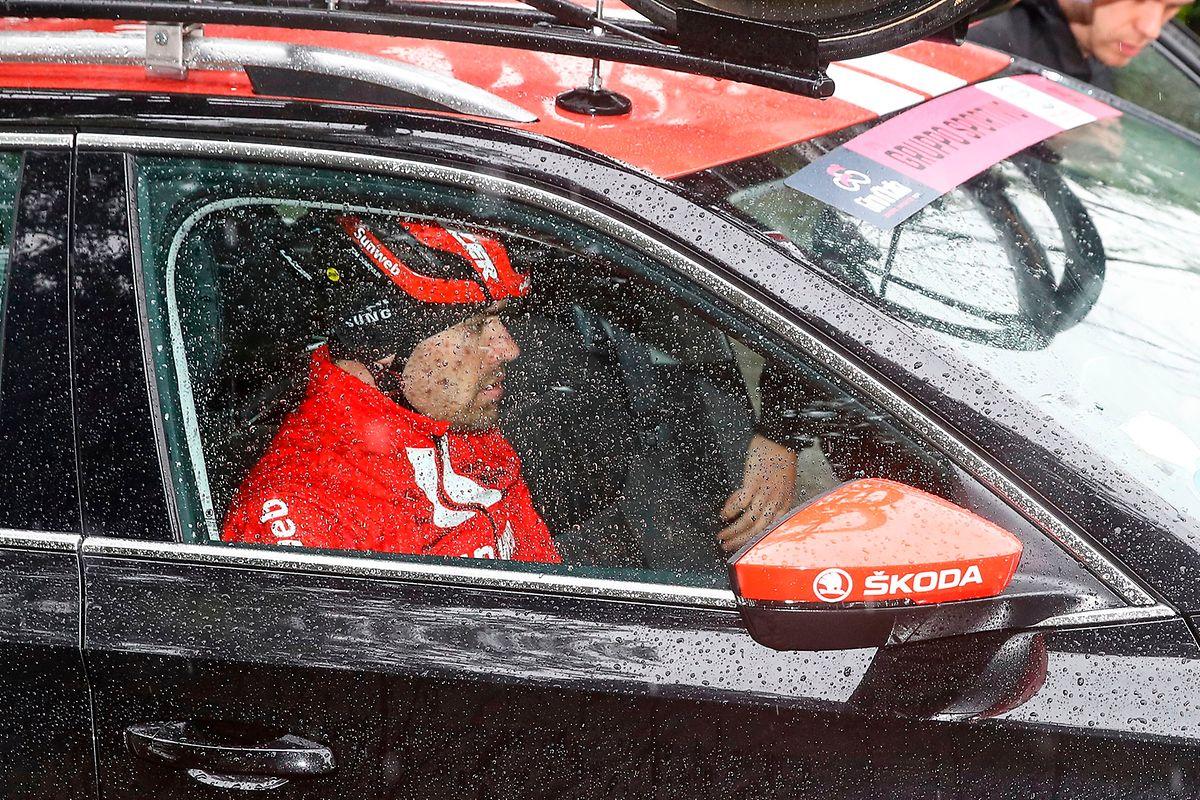 Le Giro s'est achevé prématurément pour l'infortuné Tom Dumoulin (Team Sunweb)