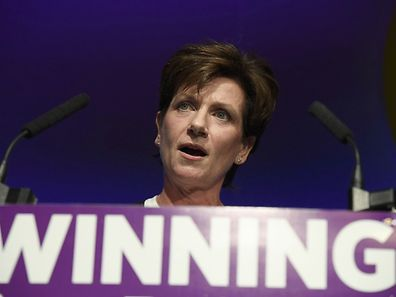 Diane James, the new UKIP leader, spoke at the party's annual conference in Bournemouth on Friday.
