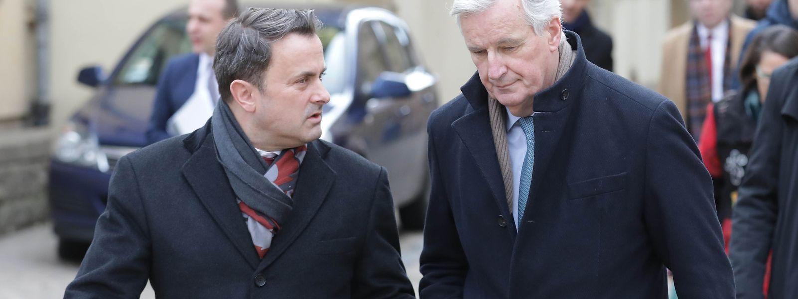 Xavier Bettel recebeu hoje o negociador da UE no processo do Brexit, Michel Barnier.
