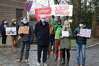 LuxTimes, Navalny Protest vor der russischer Botschaft Foto: Luxemburger Wort/Anouk Antony