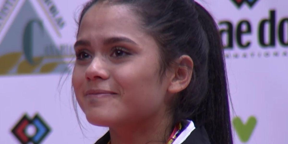 Kimberly Nelting zeigte bei der Siegerehrung große Emotionen.