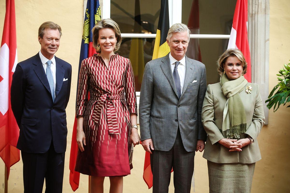 Gäste aus dem Nachbarland: König Philippe und Königin Mathilde von Belgien.