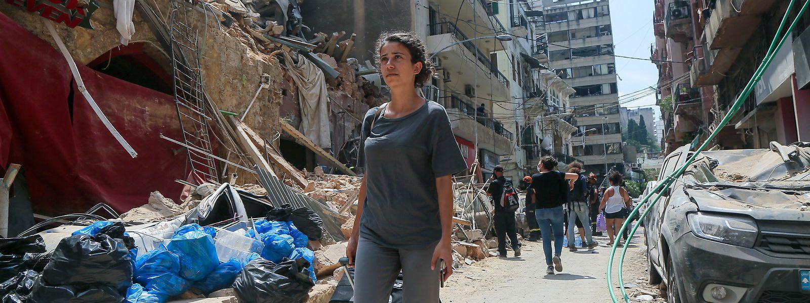 Des quartiers ont été complètement détruits obligeant les habitants à prendre le chemin de l'exil.