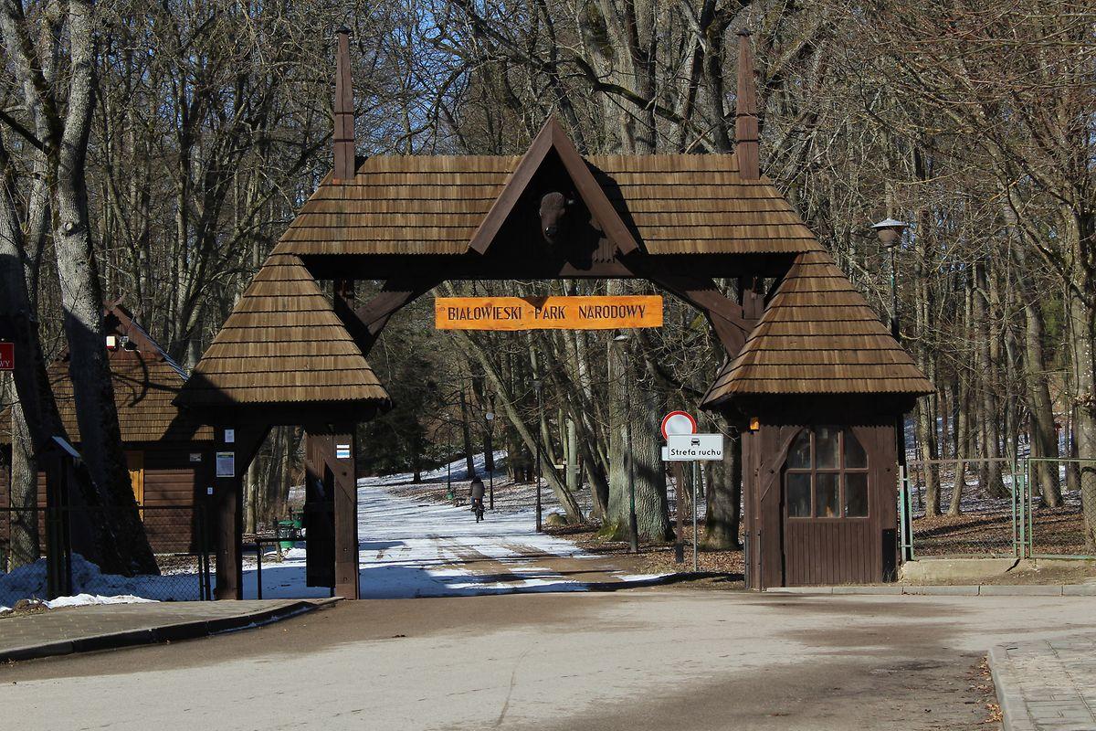 L'entrée du parc national Bialowieza: