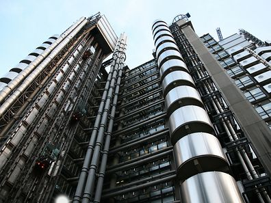 The outside of Lloyd's of London building