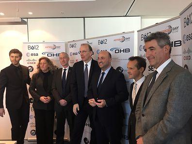 Les représentants des sociétés impliquées dans l'Asteroid day au Luxembourg.