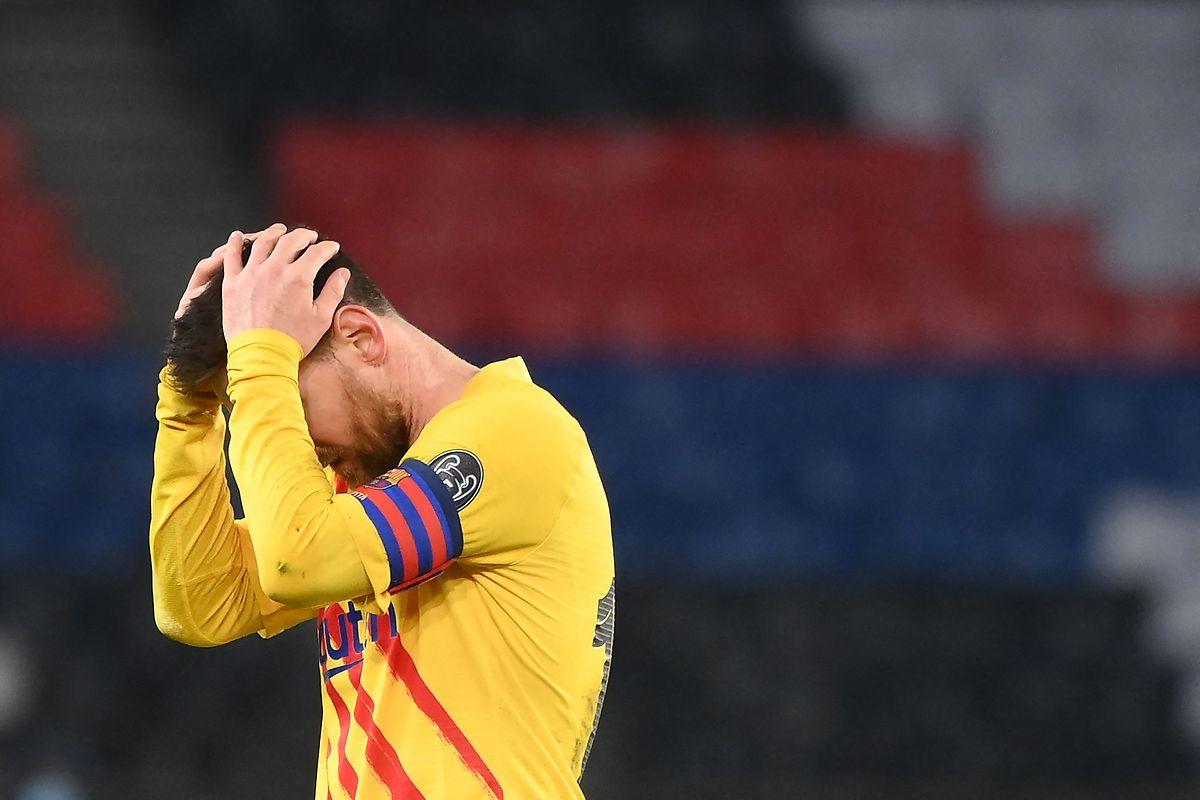 Frustrierender Abend: Lionel Messi (FC Barcelona).