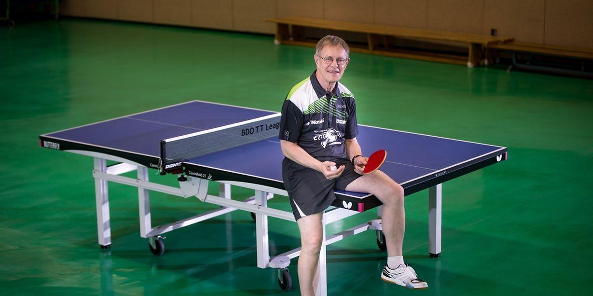 Fernand Boden spielt auch mit fast 75 Jahren noch regelmäßig Tischtennis.