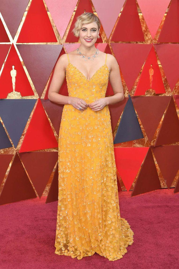Strahlend schön: Greta Gerwig in einem Kleid von Rodarte.