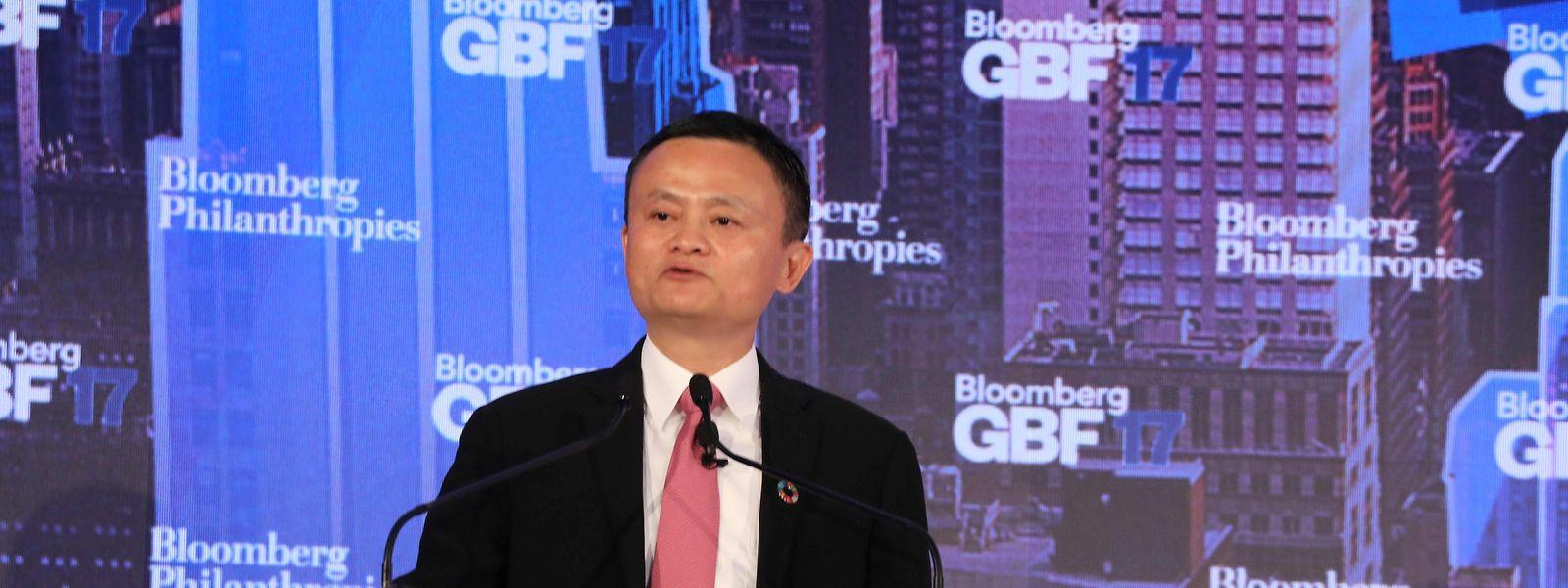 Alibaba-Gründer Jack Ma beim Global Bloomberg Business Forum in New York.