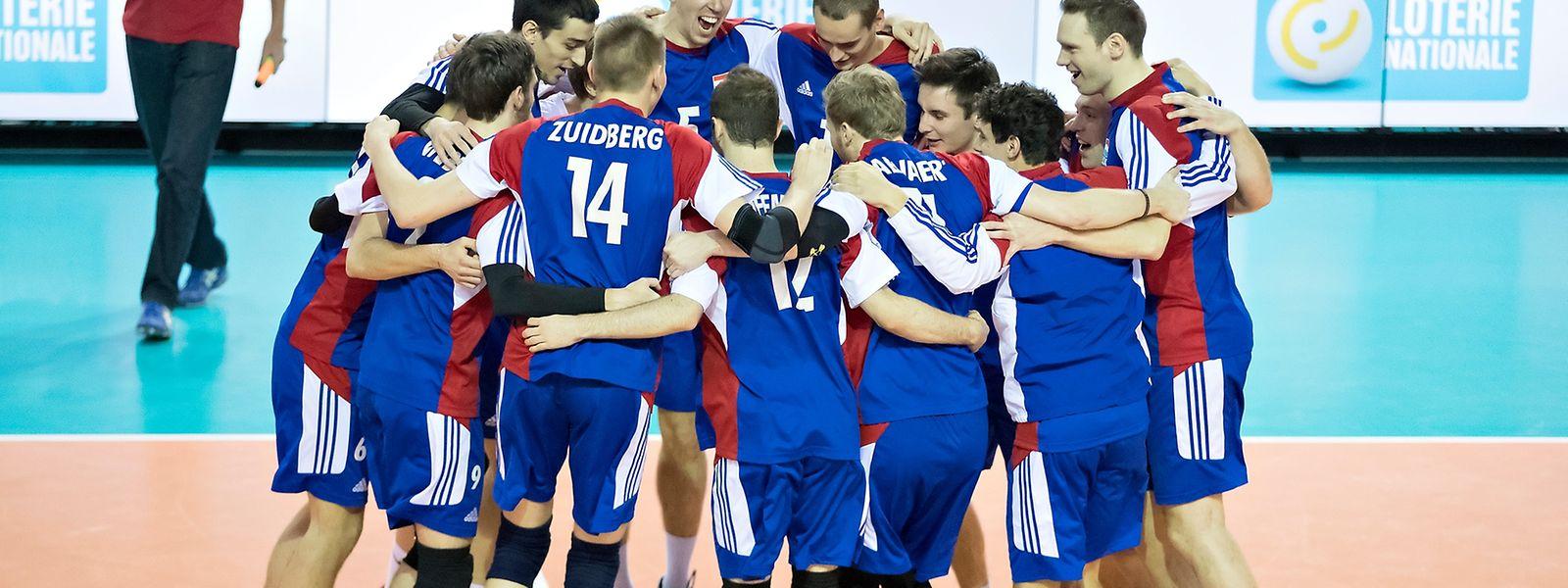Die Luxemburger Volleyball-Männer hatten Grund zum Feiern.