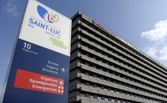 Saint-Luc University Hospital where Prince Laurent is hospitalised