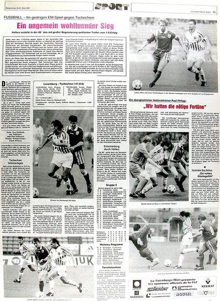 """Das """"Luxemburger Wort"""" ein Tag nach dem Sieg gegen Tschechien."""
