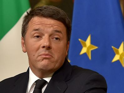 Italy's Prime Minister Matteo Renzi announces his resignation