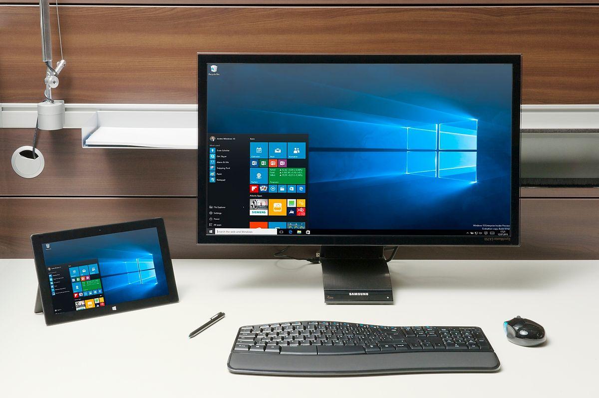 Mit Windows 10 können kompatible Geräte ihre Bildschirminhalte drahtlos an Monitore oder Fernseher übertragen. Die genutzte Technik heißt Miracast.