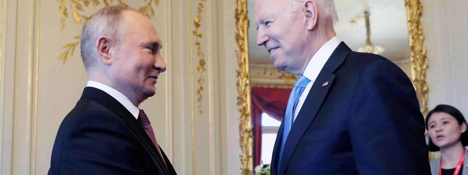 Das meistgehypte Treffen des Jahres: Wladimir Putin und Joe Biden in Genf.