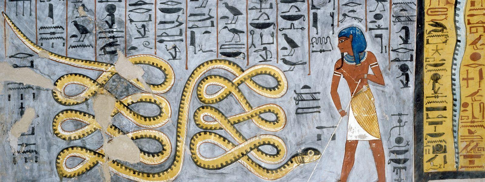 Im Alten Ägypten symbolisierte die Schlange den Sonnengott Ra.