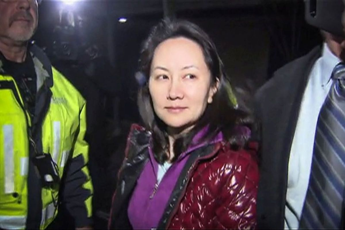 Huawei CFO Meng Wanzhou leaving a Vancouver court after she was granted bail Photo: AFP