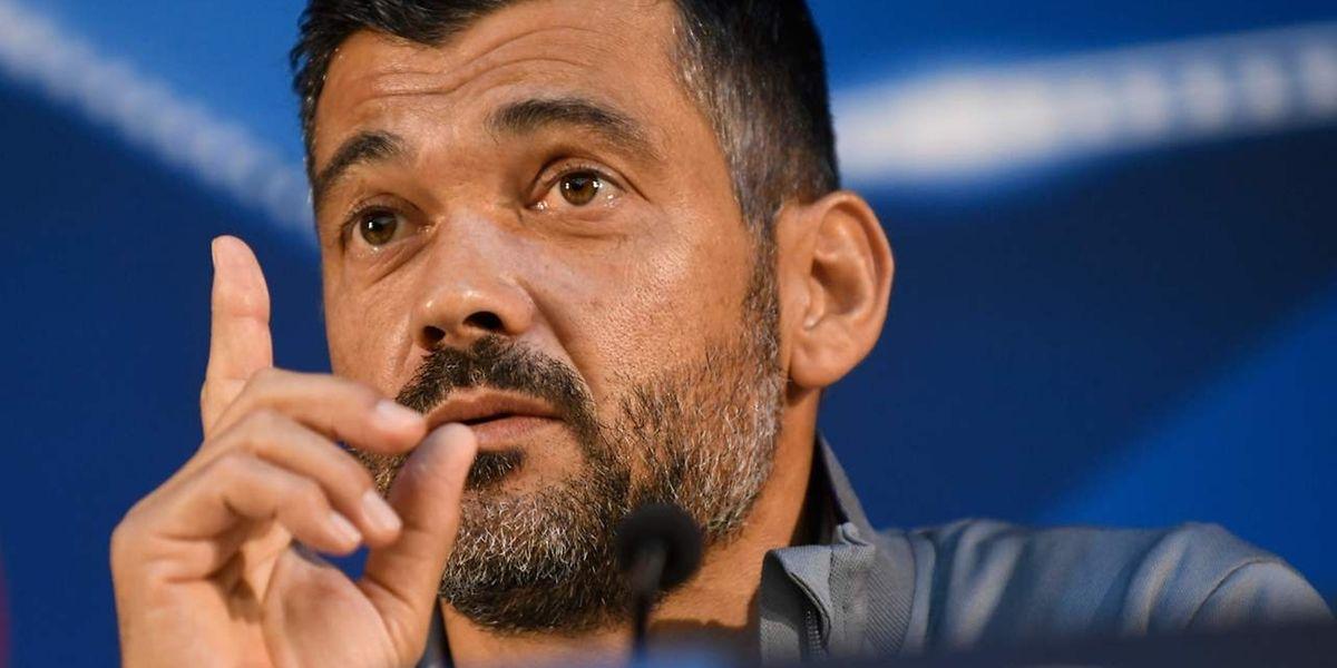 O treinador do FC Porto, Sérgio Conceição