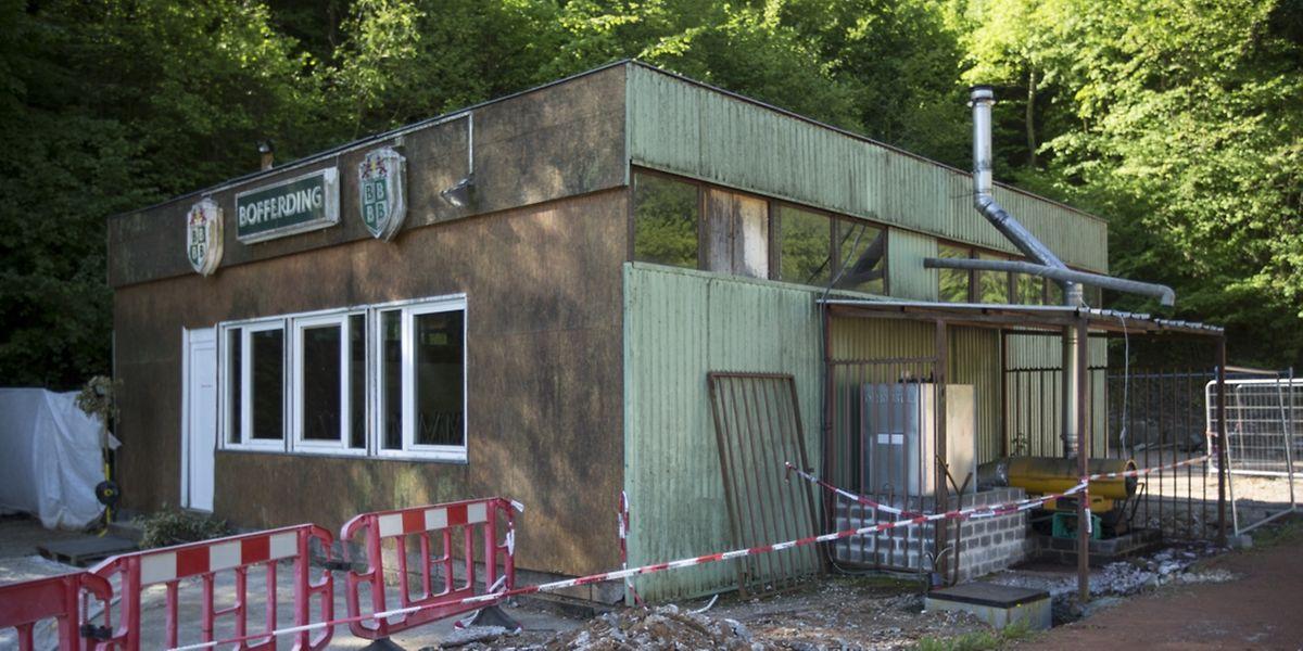 Als Provisorium gedacht, steht dieses Clubhaus mittlerweile auch anderen lokalen Vereinigungen zur Verfügung.