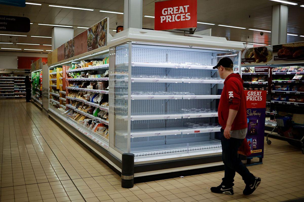 Bienvenue au rayon viandes de ce supermarché du Nord de Londres...