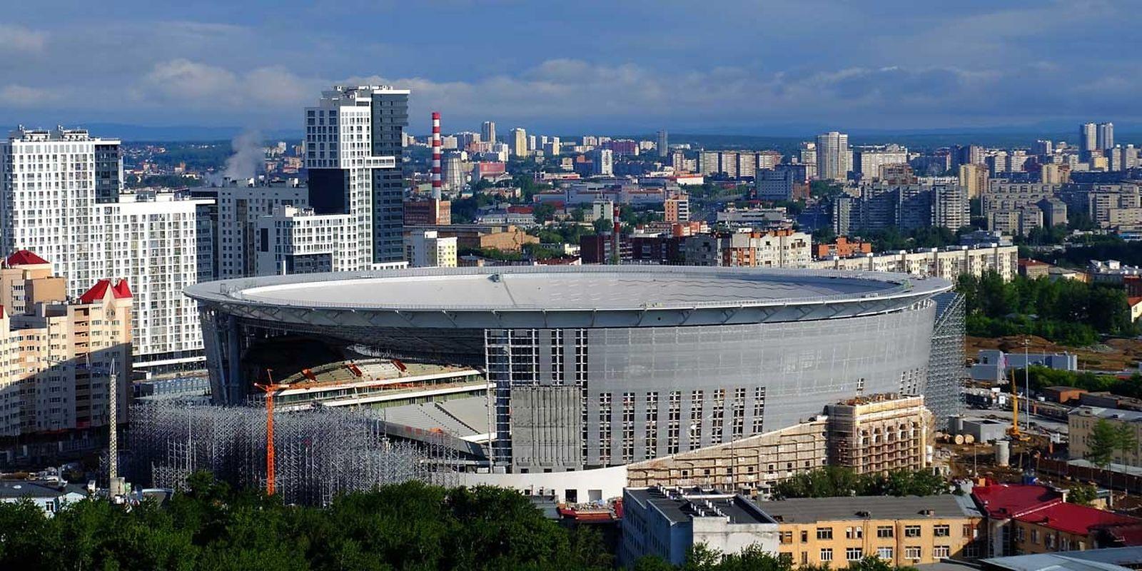 Ekaterinbourg Arena (35.000 places). Matchs disputés (4): Egypte - Uruguay (15 juin), France - Pérou (21 juin), Japon - Colombie (24 juin), Mexique - Suède (27 juin).