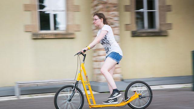 Fahrradschule für Erwachsene, Foto Lex Kleren